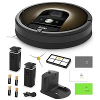 iRobot Roomba 980 Vacuum Cleaning Robot + 2 Dual Mode Virtual Wall Barriers